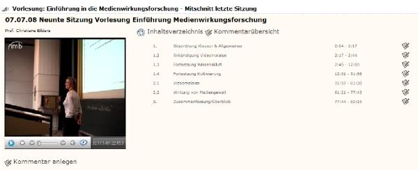Vorlesungsmitschnitt / AV-Mediendienste